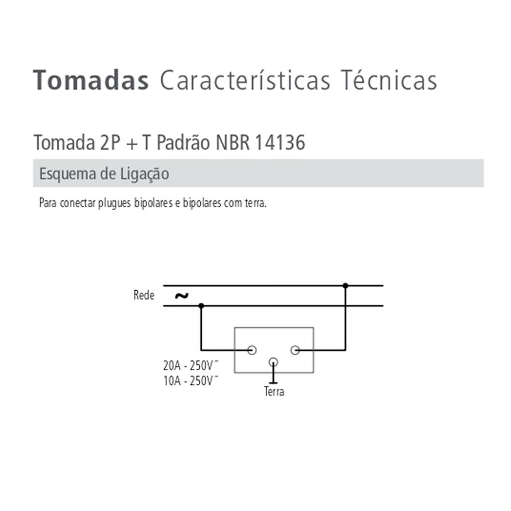 INTERRUPTOR 1 TECLA SIMPLES + 1 TOMADA C/ PLACA LUX TRAMONTINA