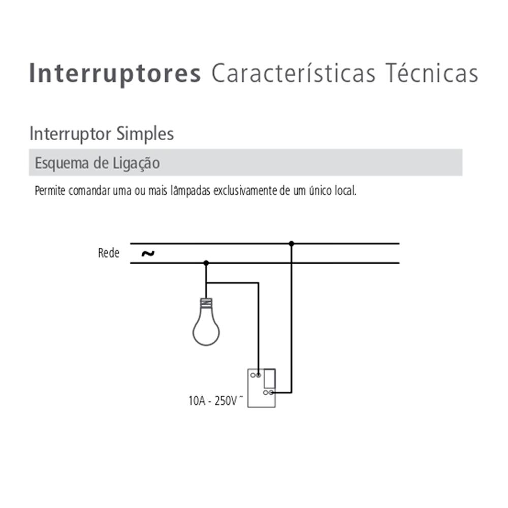 INTERRUPTOR 2 TECLAS SIMPLES C/PLACA LUX TRAMONTINA
