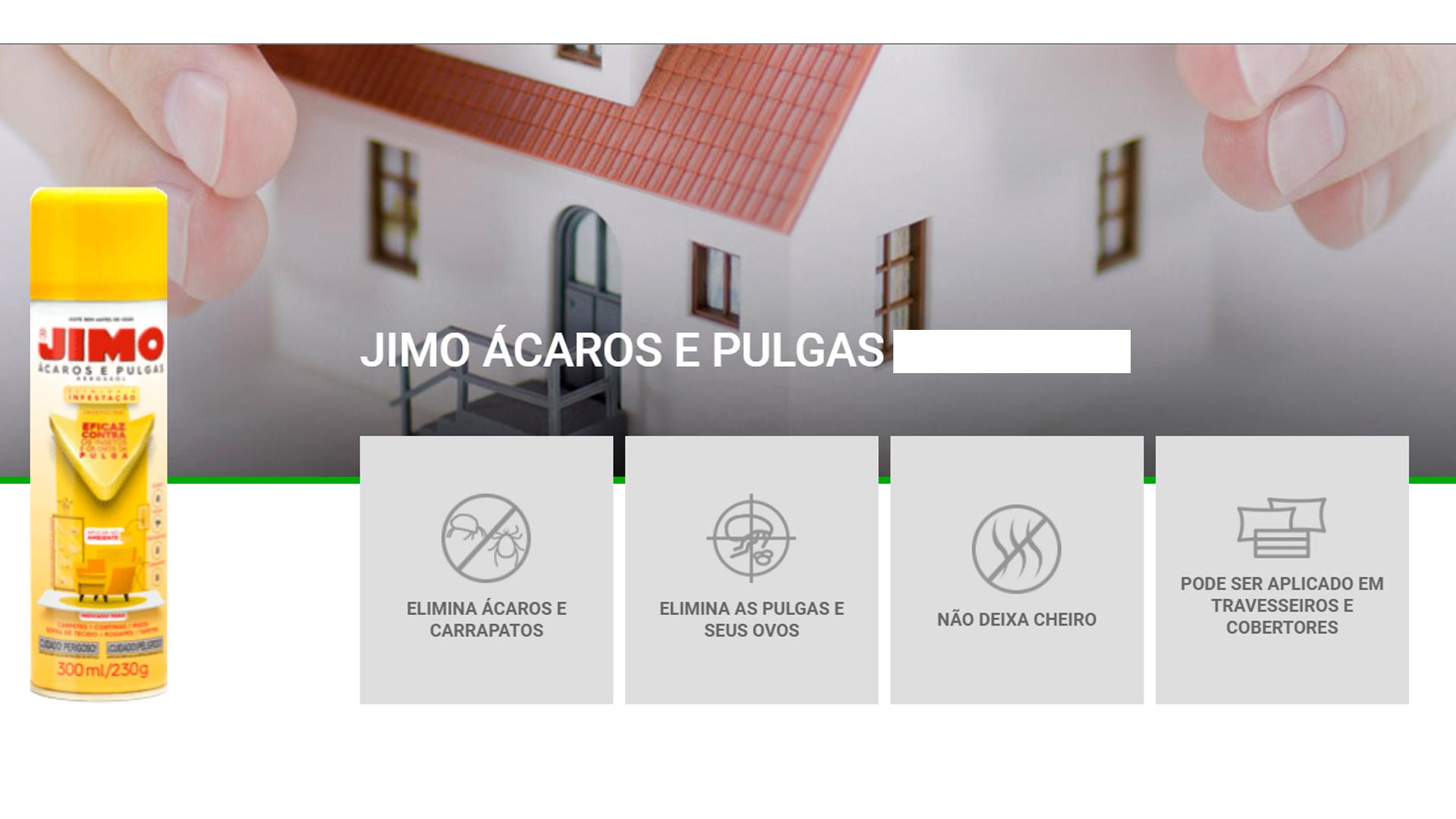Jimo Anti Ácaros Pulgas E Carrapatos 300ml