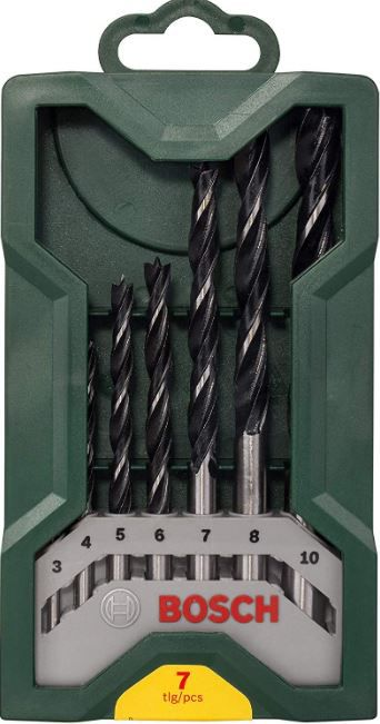Jogo de Brocas para Madeira X-LINE Bosch com 7 Peças