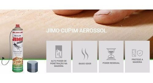 Kit 04 Jimo Cupim Spray 400ml Incolor Mata Cupim E Brocas