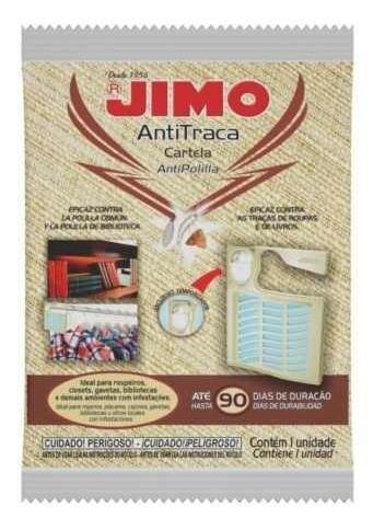 Kit 05 Jimo Antitraça Cabide Cartela Mata Traça