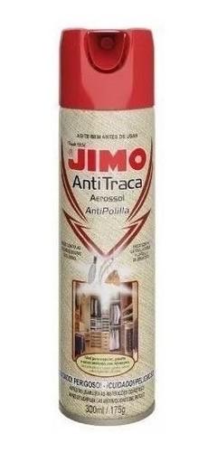 Kit 05 Jimo Antitraça Spray Aerossol 300ml Mata Traça
