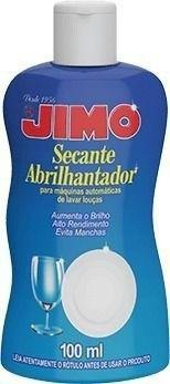 Kit 05 Jimo Secante Abrilhantador 100ml Maquina Lavar Louça