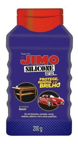 Kit 06 Jimo Silicone Gel Natural 200g Automotivo Doméstico