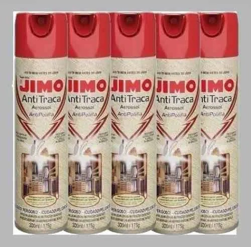 Kit 10 Jimo Antitraça Spray Aerossol 300ml Mata Traça