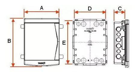 kit 10 Quadro Distribuição Embutir 12/16 Disjuntores TIGRE