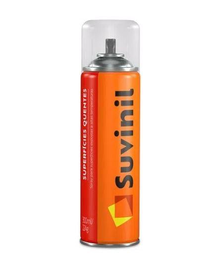 KIT 12 Tinta Spray Alta Temperatura Preto Fosco 300ml Suvinil