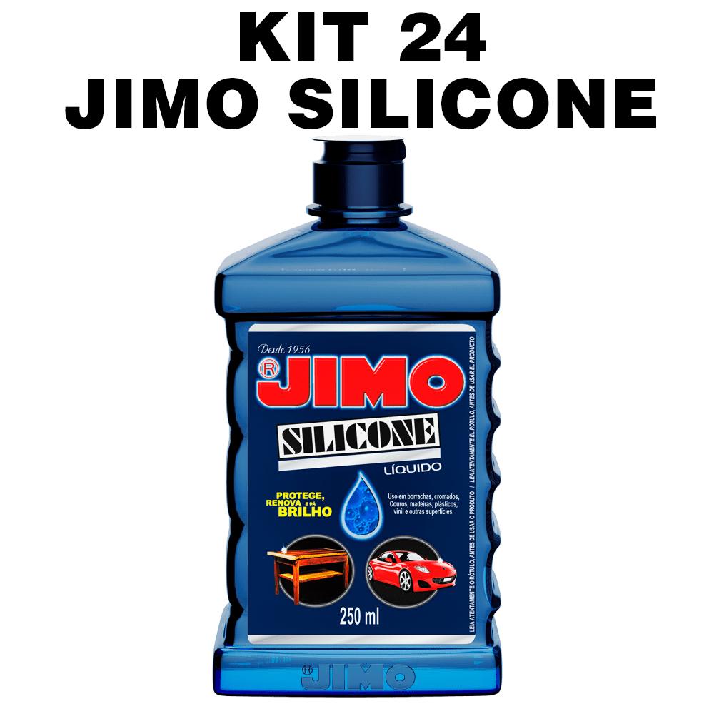 KIT 24 Jimo Silicone Líquido 250ml Uso Automotivo Doméstico