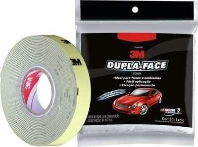 Kit 3 Fita Dupla Face Automotiva 3m Frisos Emblemas 12mmx3mt