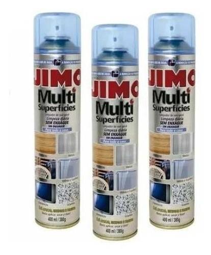 Kit 3 Jimo Multi Superfícies 400ml Metal Plastico Eletrônico
