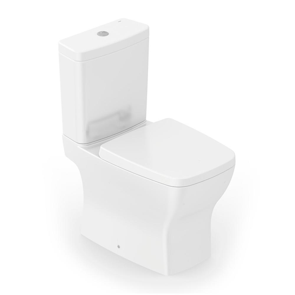 Kit Bacia com Caixa Acoplada BOSS INCEPA Branco com assento e acessório