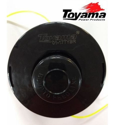 kit Carretel Nylon + Fio Nylon Quadrado Roçadeira Gasolina - Toyama