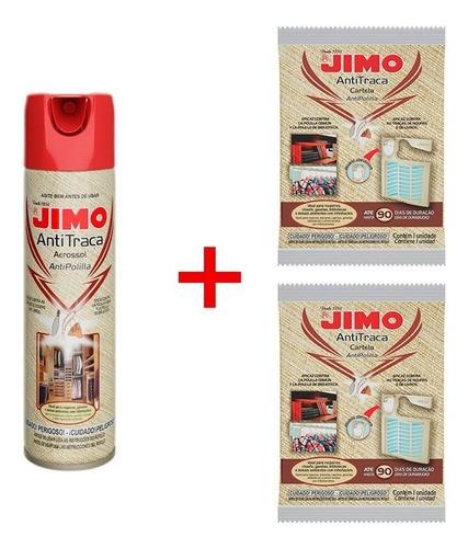 Kit Jimo Antitraça Aerossol 300ml + 2 Anti Traça Cartela