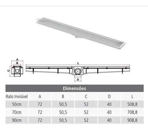 kit Ralo Linear Invisível 03un 90cm e 02un 70cm Tigre