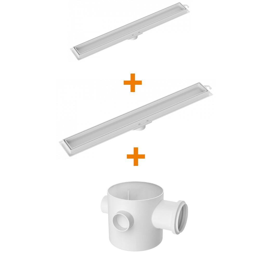 Kit Ralo Linear Invisível 1/90cm 1/70cm Tigre -2 caixas sifonadas