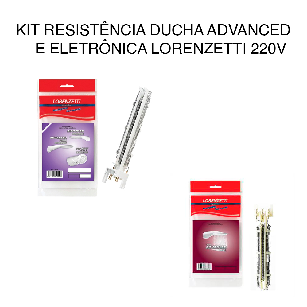 KIT Resistência Ducha Advanced E Eletrônica Lorenzetti 220v