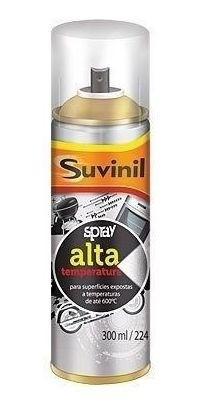 Kit Tinta Spray Alta Temperatura Preto + Alumínio Suvinil