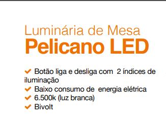 Luminária de Mesa Pelicano LED 4W  BIVOLT BRONZEARTE