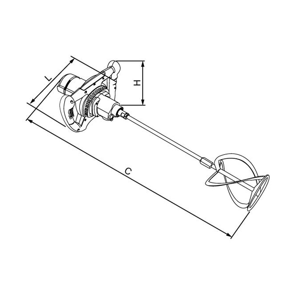 Misturador Elétrico De Argamassa E Tinta Cortag Hm140 -110 V