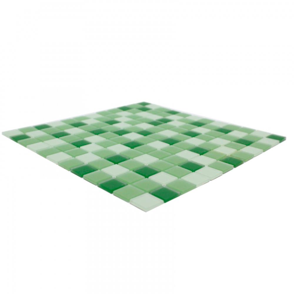 Pastilha de Vidro Cristal 30x30 cm MESCLA VERDE OBRA VITREA