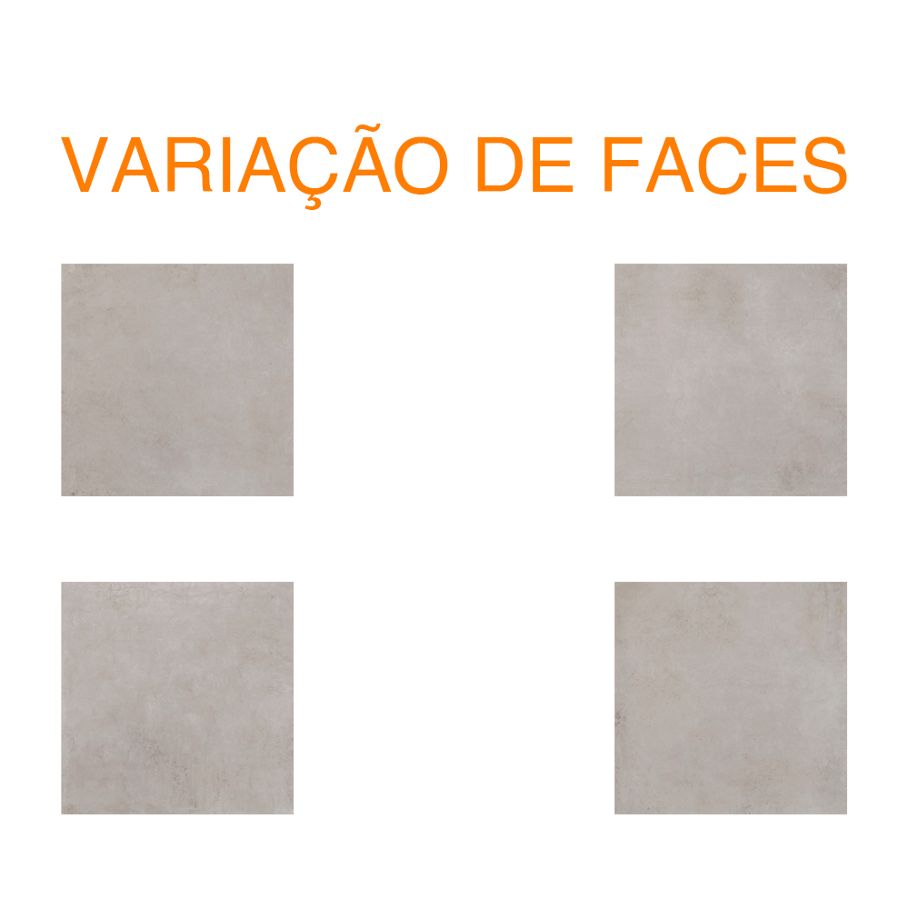 Porcelanato Eliane BRERA CIMENTO Polido (A) 90x90