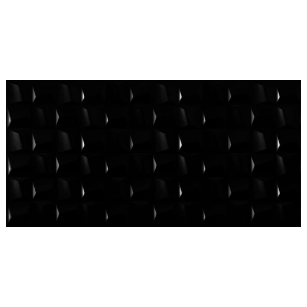 Revestimento Eliane CUBIC BLACK Acetinado (A) 45x90