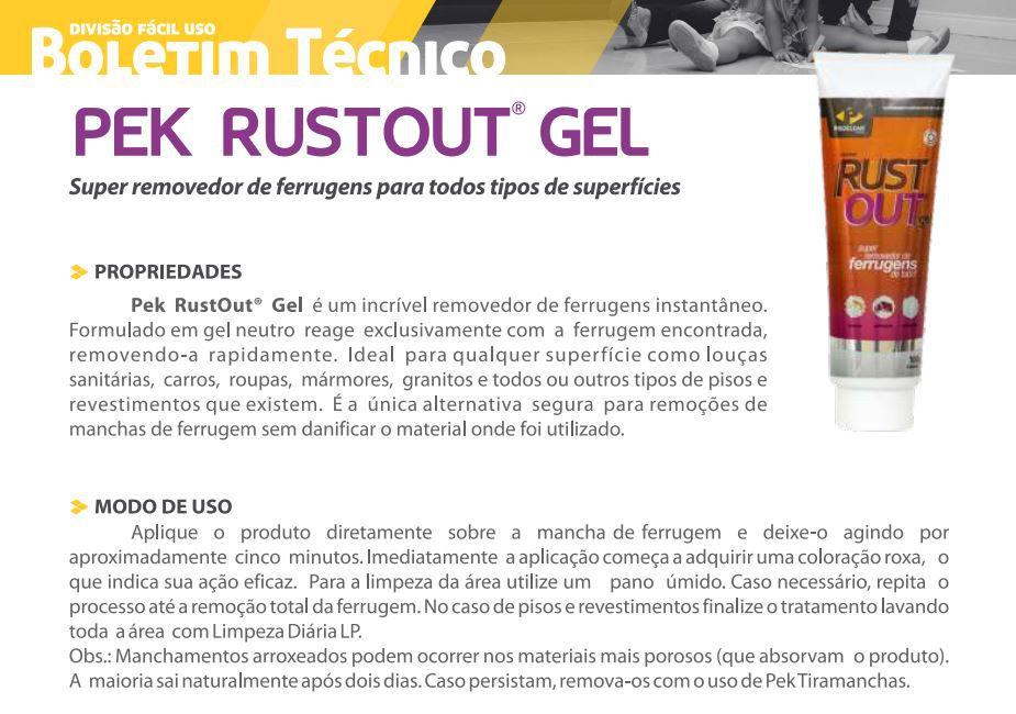 Rustout Gel 100g Removedor De Ferrugem Pisos Porcelanto Pisoclean