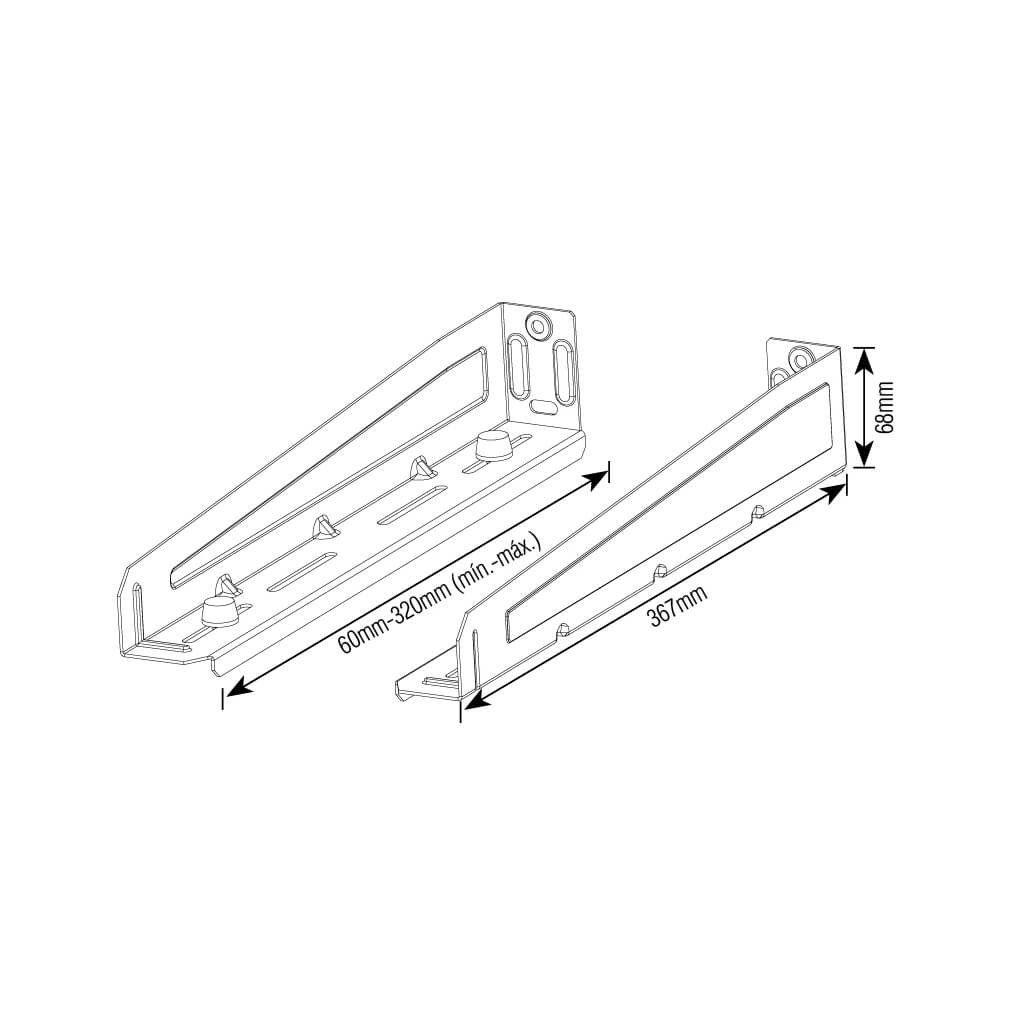 Suporte para Forno Micro-ondas – Brasforma SBR 5.0 – Branco