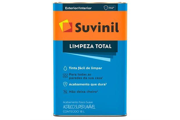TINTA ACRILICA FOSCO SUAVE LIMPEZA TOTAL SUVINIL BRANCO 18L