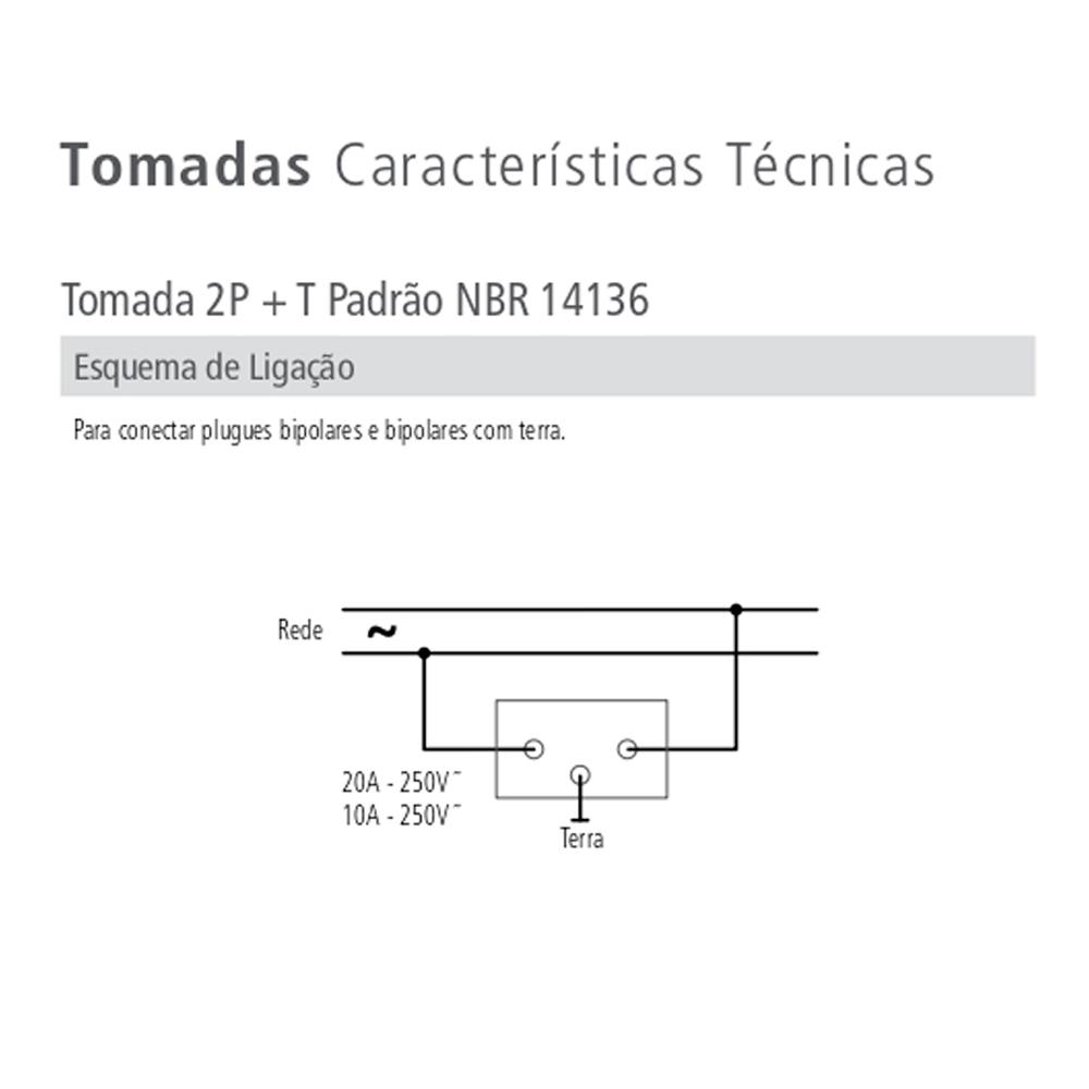 TOMADA DUPLA C/ PLACA 10A LUX TRAMONTINA