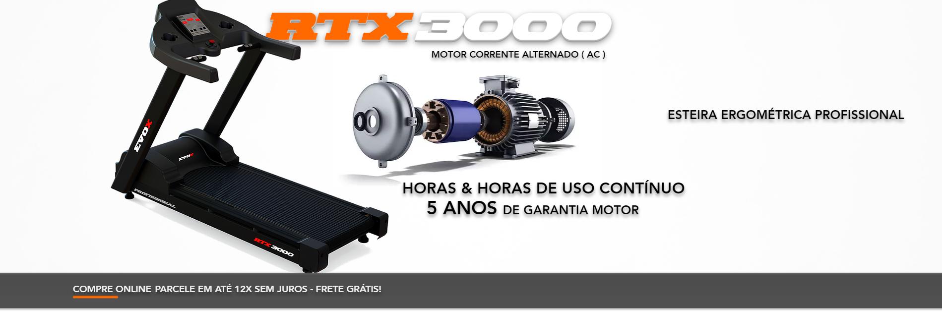 Esteira Ergométrica RTX 3000 profissional