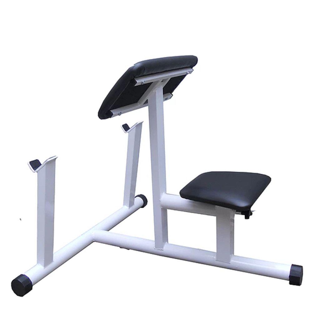 Banco de rosca scot para barra reta e W.  - Evox Fitness Brasil