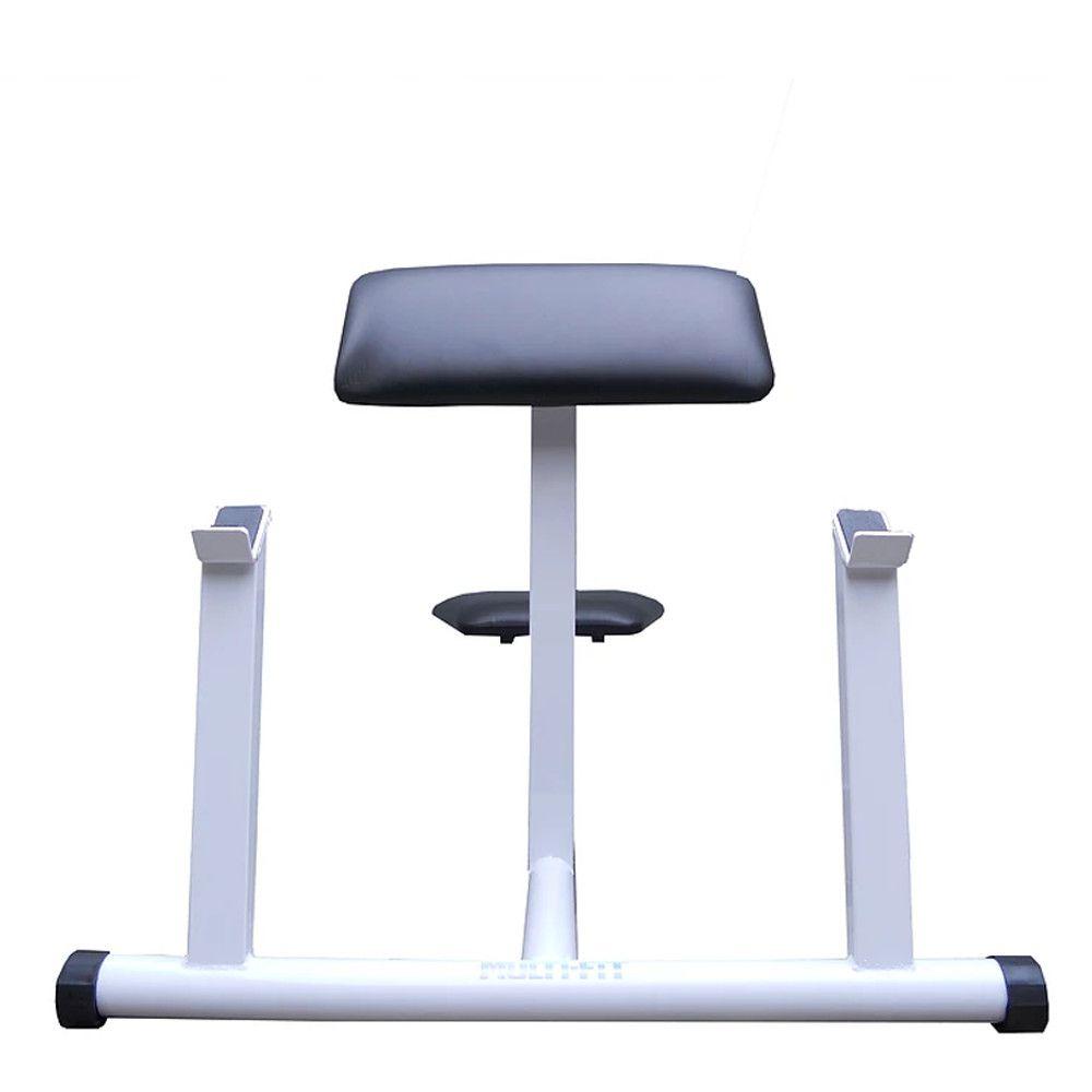 Banco de rosca scot para barra reta e W.  - Evolution Fitness Brasil