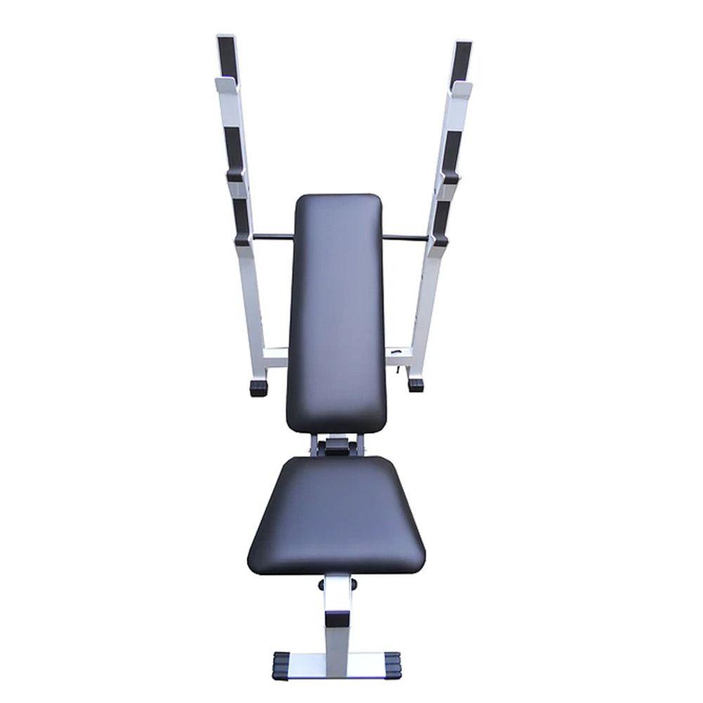 Banco de supino reto, inclinado, declinado e 90º  Capacidade de carga: 100 kg mod 1103  - Evox Fitness Brasil