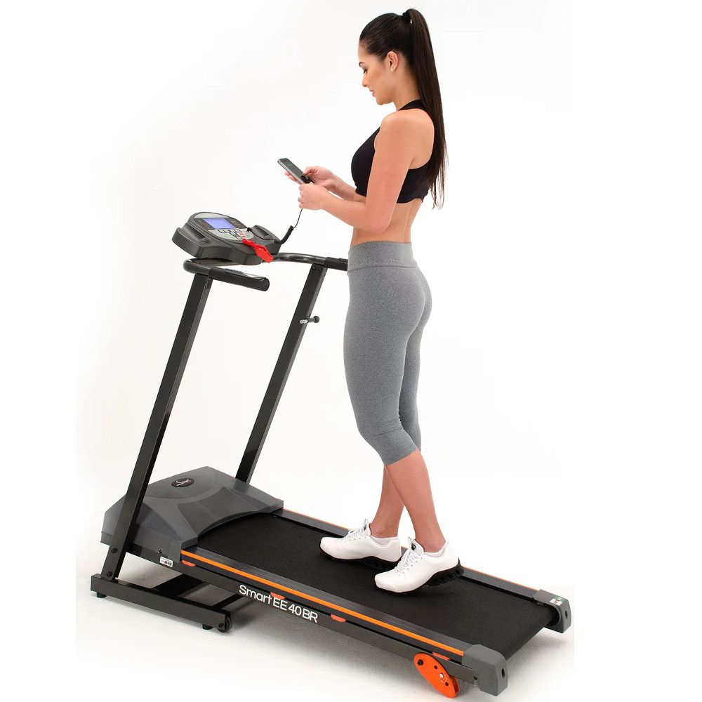 ESTEIRA ERGOMÉTRICA NACIONAL EVOLUTION SMART 40BR Reproduz MP3 - A PRONTA ENTREGA  - Evolution Fitness Brasil