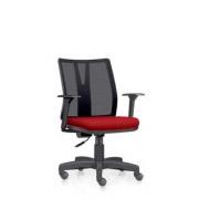 Cadeira Addit Giratória Base Reta Tec Vermelho Frisokar