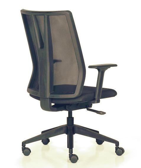 Cadeira Alta Addit Giratória Base Reta Tec Preto Frisokar
