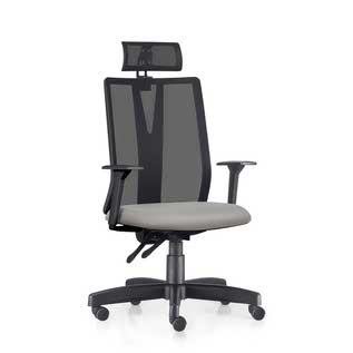 Cadeira Alta Addit Giratória Base Reta Tec Bege Frisokar