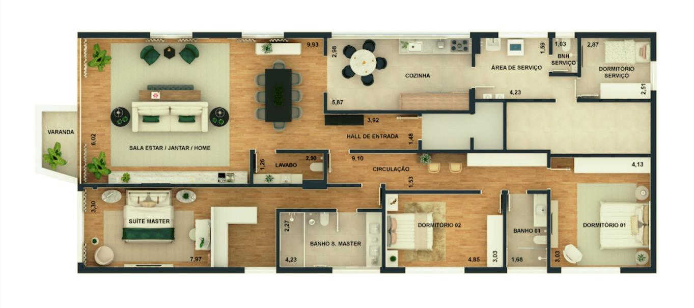 SÃO PAULO - SP - Apartamento 244m2, Higienópolis