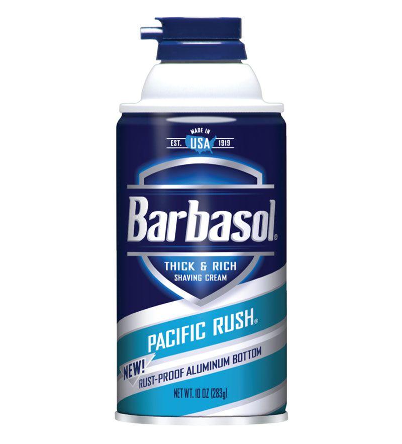 Creme de Barbear / Espuma de Barbear Pacific Rush com Cafeína e Mentol Barbasol 283 g