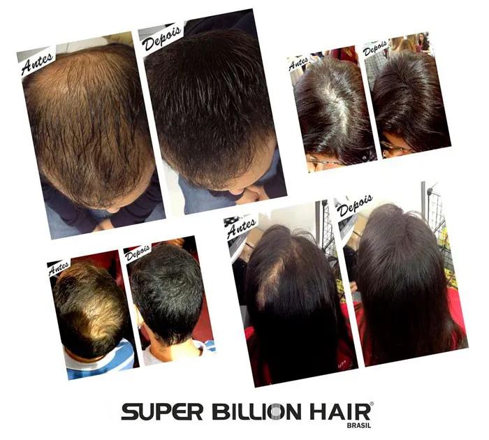 Fibras de Queratina em Pó Super Billion Hair 8 g + Spray Fixador Charming 50 ml