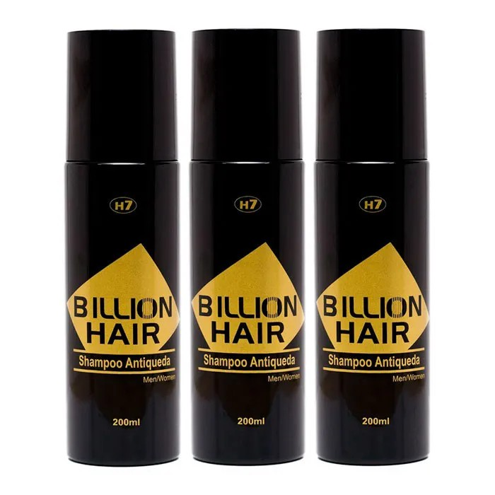 Kit c/ 3 Shampoo para Cabelo Antiqueda Billion Hair 200 ml