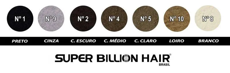 Kit c/ 5 Fibras de Queratina em Pó Super Billion Hair 25 g + Brinde