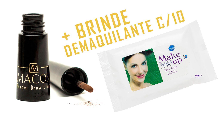 Maquiagem Corretora para Sobrancelhas / Pó Mágico c/ Fibras de Queratina Macosi 700 mg