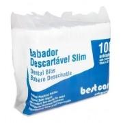 Babador Descartável Slim (C/100 Unidades) - Bestcare