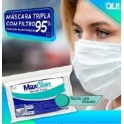 Máscara Descartável Tripla (C/ 10 Unidades )  - MaxClean