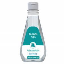 Álcool Gel Antisséptico 70% (350ML) - Eurodonto  -  Dental Paiva