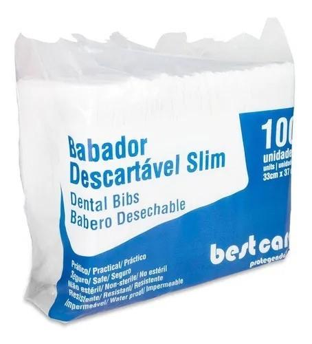 Babador Descartável Slim (C/100 Unidades) - Bestcare  -  Dental Paiva