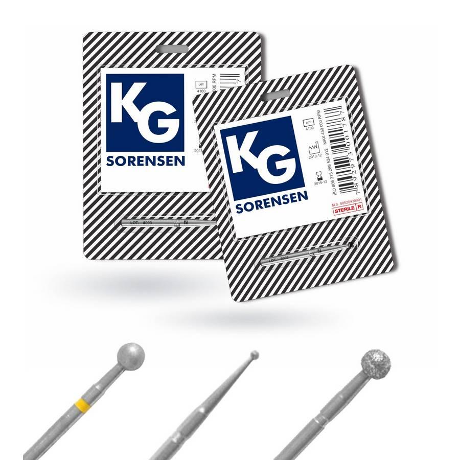 Broca Diamantada Esférica FG - KG Sorensen  -  Dental Paiva